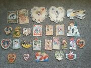 Lot Of 26 Antique Valentine Cards Early 1900s Germany Usa Vintage Collectible