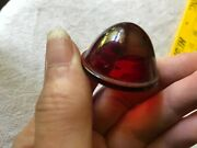 Vintage F. A. Smith Red Glass Lens Tail Stop Light Nors Cover 1-1/2 Od 7/8deep