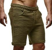 Summer Menand039s Cotton Linen Shorts Sports Leisure Fitness Straight Training New B