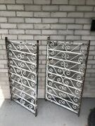 Two 2 Victorian Wrought Iron Balustrade Sections 19th Century Railing Fence