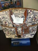 Disney Dooney And Bourke 2017 Epcot Food And Wine Figment Passholder Tote Nwt