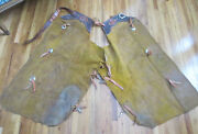 Rare Vintage Cowboy Chaps North And Judd Anchor Mark On Hardware And Waist