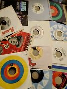45s Record Collection Lot Of 30 Doors Who Elvis Bee Gees Griffith Def Leopard