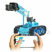 Rc Track Tank W/ Acrylic Mechanical Arm Robot Arm Kit For Scratch Programming