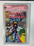 Marvel Fanfare 11 Cbcs 9.8 Signed By Jim Shooter 1st Iron Maiden 1983