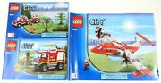 Lego City 4208 4x4 Fire Truck 4209 Fire Plane 100 Complete With Instructions
