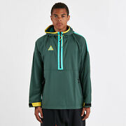 Nike Acg Woven Hooded Jacket Atomic Teal Yellow 931907-375 Menand039s Nwt