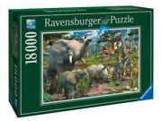 New Ravensburger Jigsaw Puzzle 18 000 Pieces Tiles At The Waterhole