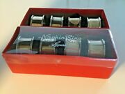 Set Of 8 Leonard Silver Plated Napkin Rings 15andrdquo Round With Rolled Edges