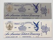 1989 President George Bush Inauguration An American Tribute To Democracy Tickets