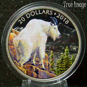 2018 Majestic Wildlife 3 Mountain Goat - 20 1 Oz Pure Silver Proof Coin Canada