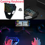 One-hand Green Axis Bluetooth Wireless Gaming Keyboard+converter For Ios/android