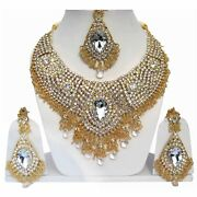 Jadaw Stone Designer Wedding Bridal Gold Plated Party Collection Zircon Necklace
