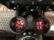 Union Jack Uk Flag Coasters For Mini Cooper Front Cup Holders