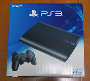 New Sony Ps3 Playstation 3 500gb Console System Charcoal Black Cech 4300c Japan