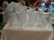 12 - Fostoria American Low Water Goblet - 5-1/2 Tall - Glasses - Cube