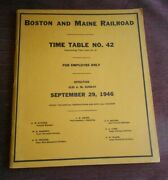 Employee Timetable Boston And Maine Rr Effective September 29,1946