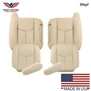 2003 To 2006 Chevy Tahoe Suburban Front Package Synthetic Leather Seat Cover Tan