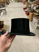 Vintage Old Bond Street Preston And Co. London Stove Top Hat Abe Lincoln Minty
