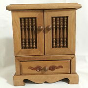 Mini Wicca Altar Pagan Wood Carved Crystals Herbs Cabinet Witch Occult Cupboard