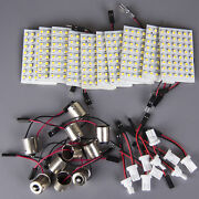 10x High Power 11w White Festoon T10 Ba9s Led 48smd Panel Interior Dome Map New