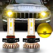 For Jeep Compass 2017-19 Bright Gold Yellow Drl Led Daytime Running Light Bulbs