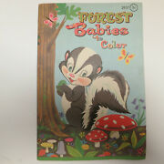 1962 Vintage Forest Babies Coloring Book Unused Mcmlxii Western Publishing