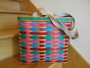Longaberger Tote Basket Set Colorful Cabo San Lucas Trip 17 Shipping Included