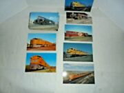 Railroad Vintage Large Size Postcards With Trains Unused Big Lot Of 100 Cards