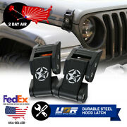 2 Day Air Skull Punisher Metal Hood Latch Lock Catch For 18 + Jeep Wrangler Jl