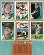 1988 O-pee-chee Detroit Tigers Team Set 15 - Mint From Vend Case