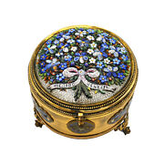 2893-1 Ormul Jewel Box With Micro Mosaic Cover. Venice.