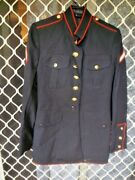B6 Usa Army Jacket With Stripes Crossed Rifles Vgc Size 37r Military Wallacep