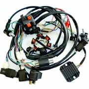 Gy6 150cc Atv Go Kart Wire Harness Assembly Cdi Switch Stator Electric Brand New