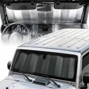 New Double Sided Front Accordion Window Windshield Sun Shade Fits Jeep Wrangler