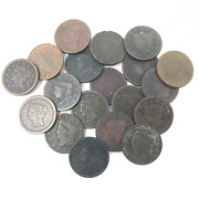 Assorted Lot Of Large Cents 19-coin Lot 062920