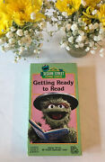 Sesame Street Getting Ready To Read Vhs Vintage 1986 Extremely Rare 💎 Vtg 80s