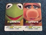 Disney Muppets Most Wanted Movie Subway Gift Card No Value 2 Rare Kermit