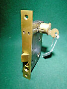 Reading Hardware 01602.5 Entry Mortise Lock W/cylinder And Key 7 1/2 Face 13289