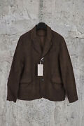 Nwt By Walid Vintage Linen Single Breasted Three Button Brown Blazer L1595