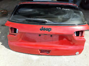 2019 Jeep Compass Rear Deck Trunk Lid Tailgate Shell Red Oem