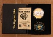 Mark Brunell Highland Mint 24kt Gold Plated Coin Jaguars Ring Paperweight /2500