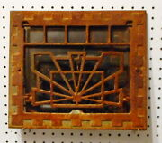 Used Antique Cast Iron Wall Vent Cover With Damper For 8x12 Or 10x12 Duct Choice