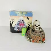 Halloween Haunted Skull Water Fountain Spooky Jack-o'-lanterns Zvs Sold As Is