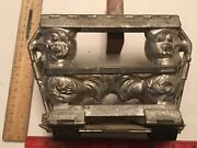 Vintage Antique Pewter Chocolate Molds - 2 Roosters Side By Side In One Mold