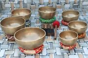 6 To 11 Inch Dim Singing Bowl Set, Handmade In Nepal, Music Therapy, Meditation