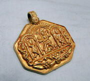 Gold Pendant Necklace Vintage Ethnic Tribal Shiva Pendant Jewelry Jewellery