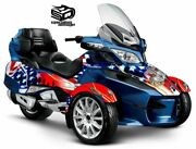 Can Am Spyder Rt Rts Ltd Graphic Wrap Decal Kit The Patriot - Usmc 2010-19