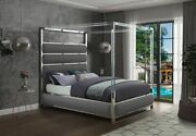 Meridian Encore Contemporary King Size Bed. Available In 3 Colors And 2 Sizes