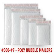 Any Size Poly Bubble Mailers Shipping Mailing Padded Bags Envelopes 000 - 7